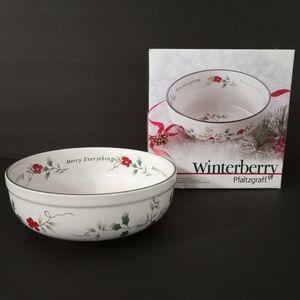 • Pfaltzgraff Winterberry Candy Bowl •